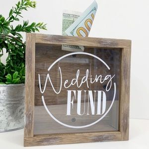 Wedding Fund Savings Wood Shadow Box